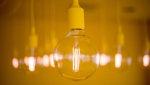 Yellow Room close up lamp